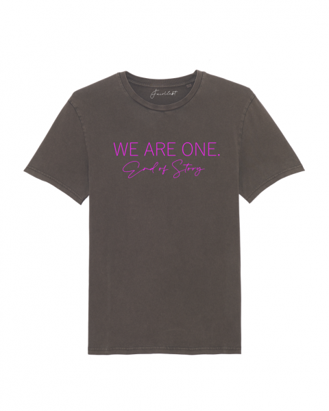 "Damen Shirt vintage chocolate ""We are one, End of Story"""