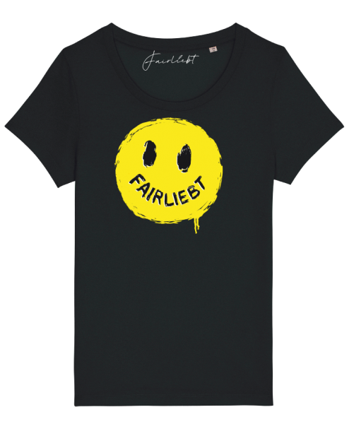 "Damen Shirt schwarz ""Smiley"""