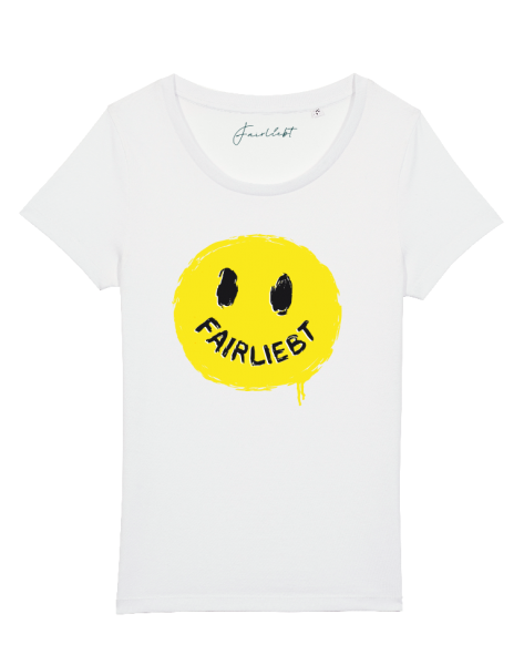 "Damen Shirt weiß ""Smiley"""