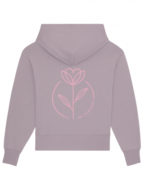 "Oversized Hoodie pastell lila, ""Fairliebt Blume rosa"""